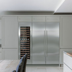 Sub-Zero Refrigerators - From Sub-Zero: A 24-inch wide Refrigerator Column (IC-24R) and 24-inch Freezer Column (IC-24F) with a 24-inch wide wine column (IW-24).