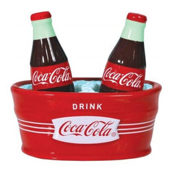 Westland - 4.5 Inch Ice Cold Coca-Cola Bottle Salt and Pepper Shakers with Holder - This gorgeous 4.5 Inch Ice Cold Coca-Cola Bottle Salt and Pepper Shakers with Holder has the finest details and highest quality you will find anywhere! 4.5 Inch Ice Cold Coca-Cola Bottle Salt and Pepper Shakers with Holder is truly remarkable.