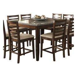 Brown quartz counter top dining tables find square and for Quartz top dining table