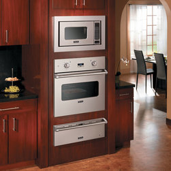 """Viking 30"""" Electric Single Select Oven, with a warming tray and microwave - Viking 30"""" Electric Single Select Oven, with a warming tray and microwave"""