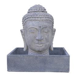 Bradburyhd - Stone buddha fountain - Stone buddha head fountain
