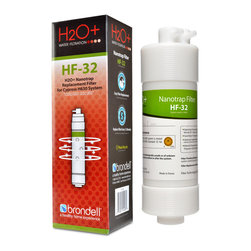 None - Brondell H2O+ Cypress Nanotrap Filter - The Brondell H2O+ Cypress Nanotrap Filter uses specialized patented Nanotechnology. This filter is made with USA-sourced materials including Nano alumina and cellulose fibers with a pore size of 2 microns.