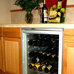 Vinotemp - 58-Bottle White Wine Cooler (White) - Vinotemp's 58 bottle models are highly rated and some of our most popular units. This unit is perfect for the kitchen, bar or dining area. It is not suggested to be place in the garage due to volatile external temperature ranges.