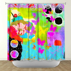 Shower Curtain HQ - DiaNoche Designs Fun with Glitter by China Carnella Fabric Shower Curtain, made in the USA, 100% Polyester, Check out the site for more details!