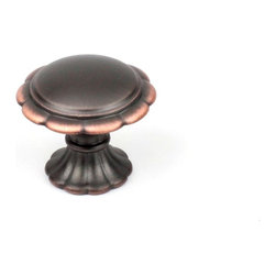 Century Hardware 27807-AZC Cabinet Knob - Fiori Series - Antique Bronze w/ Coppe - This antique bronze w/ copper finish cabinet knob with floral design is a part of the Fiori Series from Century Hardware. A perfect blend of craftsmanship in traditional and contemporary design to complement any decor.