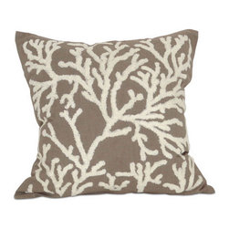 None - Coralyn 20-inch Down Throw Pillow - This down throw pillow will be the perfect accessory to add that finishing touch to your decor. The zipper removable cover is 100-percent for softness and durability.