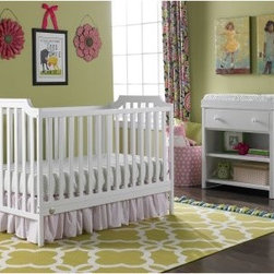 Fisher-Price Providence 3-in-1 Convertible Crib Collection - Centered around a crib that's beautiful from every angle, the Fisher-Price Providence 3-in-1 Convertible Crib Collection will be a functional and stylish centerpiece for any nursery. Crafted of New Zealand pine, this crib is offered in a choice of non-toxic finishes and it features fixed sides and a 3-position adjustable-height mattress. Remove one side panel and use as a toddler bed (guard rail sold separately) or forget the guard rail and use it as a daybed. Either way, this bed will fit your child long after they've outgrown the crib and it has a 50 lb. weight capacity. It's JPMA certified, and meets all ASTM & CPSC safety standards. The crib alone is a wonderful addition to any nursery, but consider adding the optional case pieces for a fully furnished room.Optional Changing Table34.1L x 17.9W x 35.8H in.Wood construction and finished to match crib1 drawer on durable and smooth drawer glides2 open shelves for storing lots of baby's essentialsAccommodates a standard changing pad (not included)JPMA certifiedOptional Double Dresser54W x 15.5D x 38H in.New Zealand pine with pine veneersFinished to match cribOffers 6 drawers of storageEuro drawer glides for smooth operationAnti-tip kit includedAbout Fisher-Price As the most trusted name in quality toys, Fisher-Price has been helping to make childhood special for generations of kids. While they're still loved for their classics, their employees' talent, energy and ideas have helped them keep pace with the interests and needs of today's families. Now they add innovative learning toys, toys based on popular preschool characters, award-winning baby gear, and numerous licensed children's products to the list of Fisher-Price favorites.