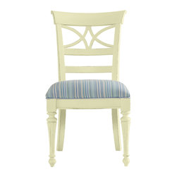 Stanley Furniture - Coastal Living Cottage Sea Watch Side Chair - Sea Grass Finish - Combine a filigree back and chamfered legs and you've got reason to sit a little longer. Features a cushioned seat in your choice of five fabrics. Made to order in America.