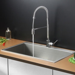 Ruvati - Ruvati RVC2391 Stainless Steel Kitchen Sink and Chrome Faucet Set - Ruvati sink and faucet combos are designed with you in mind. We have packaged one of our premium 16 gauge stainless steel sinks with one of our luxury faucets to give you the perfect combination of form and function.