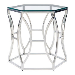 Bernhardt Interiors - Bernhardt Interiors Argent Metal Side Table 326-121 - Bernhardt Interiors Argent Metal Side Table 326-121.