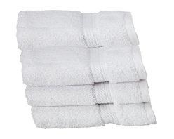 Luxurious Egyptian Cotton 900 Gram 6-Piece White Face Towel Set - Luxurious Egyptian Cotton 900GSM 6pc Toast Face Towel Set