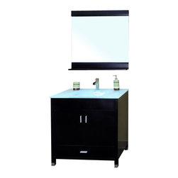 Bellaterra - 32.3 In Single Sink Vanity - Wood - Black - If you. Dimensions: 32.3 in. x 21.3 in.