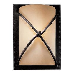 Minka Lavery - Minka Lavery 1972-138 Aspen Bronze 1 Light Wall Sconce - Rustic Scavo Glass Shade