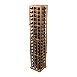 Designer Series Wine Rack - 3 Column Individual - The 3 Column Individual Bottle wooden wine rack supports the same design as the 5 Column Individual Bottle wine rack, but in a smaller width. Each bottle is cradled on two rails that are cut with beveled ends and rounded edges which ensure the labels will not tear when the bottles are removed. The 3 Column Individual Bottle wooden wine rack is 3 columns wide x 19 rows high. Product requires assembly. Please note: molding packages are available separately.