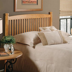 Hillsdale Furniture - Oak Tree Classic Wood Slat Headboard in Mediu - Choose Size: Full/QueenFor residential use. Includes headboard and frame rails. Slat spindles. 2.25 Octagonal legs. Made of hardwood. Rich Medium Oak finish. Twin: 39 in. W x 42 in. H. Twin leg headboard frame: 76.5 in. L x 54 in. W. Full/Queen: 60 in. W x 42 in. H. Full/Queen frame: 83.5 in. L x 78 in. WThe Oak Tree headboard blends current styling with rich Medium Oak finished hard wood. Special details include slat spindles and 2.25 octagonal legs.