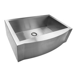 "AKDY - AKDY 29"" AK-ZA7352CF Stainless Steel Apron Kitchen Sink - AKDY 29"" apron 16 gauge high quality stainless steel hand made kitchen sink w/ heavy duty sound deadening pads; single bowl"