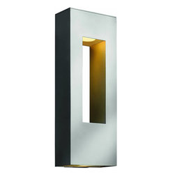 Hinkley - Atlantis 2-Light Large Outdoor ADA Wall - The Atlantis Collection features a Titanium finish with Etched Opal glass or Etched Glass lenses (where applicable).
