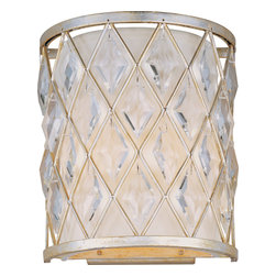 Maxim Lighting - Maxim Lighting 21458Ofgs Diamond 2-Light Wall Sconce - Maxim Lighting 21458OFGS Diamond 2-Light Wall Sconce