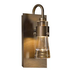 "Contemporary Hubbardton Forge Erlenmeyer 9 1/2""H Smoke Wall Sconce"