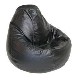 Elite Products - Lifestyle Adult Bean Bag - Adults can settle into these for superior comfort and support.  Bean bag chairs are a great choice for dorm rooms and apartments.  They're fun for use at home, too, in stylish colors, including ebony.  Filler is fluffy and long lasting, but easy to refill as well. Long lasting and durable. Double stitched with double overlap folded seam. Double zippered bottom for added security. Childproof safety lock zippers (pulls have been removed). Can easily be refilled by an Adult. Light, convenient to move and store. Easy to Clean. Recommended seating age: 10 to young adult. Warranty: One year limited. Made from PVC vinyl and polystyrene bead. Made in USA. No assembly required. 34 in. L x 34 in. W x 27 in. H (8 lbs.)Adults can settle into these for superior comfort and support. Bean bag chairs are a great choice for dorm rooms and apartments, Our Lifestyle bean bags are the perfect way to furnish your place without filling your rooms with lots of space-consuming furniture.