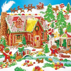 Gingerbread Fun Puzzle - 400 Piece Jigsaw PuzzleGingerbread Fun is one of the most popular new holiday images because it is packed full of exciting details! The sugar and icing add sparkle and color to this Family Puzzle. Find all of the details hidden in this richly textured Christmas puzzle image licensed from Hallmark.
