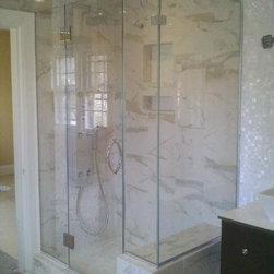 Frameless Shower Enclosure - Frameless shower enclosure, using low iron glass.