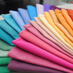 Table Linens - Our restaurant-quality cloth napkins are a generous size at 17 x 17, washable and easy to care for, Retain their color, Last long and resist pilling, Have finished edges and are made from durable polyester