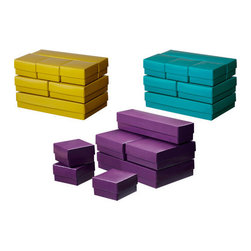 VAMMEN Box with lid, set of 7 - Box with lid, set of 7, assorted colors