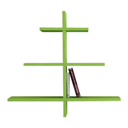 Decortie - Agac Wall Shelf, Green - Sleek, modern and incredibly stylish, the Decortie Agac Wall Shelf is a stunning design that would look fabulous in a contemporary interior.