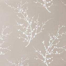 LOLLIPROPS, INC., LPI - Edie, Champagne - The metallic branches in this temporary wallpaper will completely transform any room into a stylish oasis. The look is ultra sophisticated and easy to apply since it has a self-adhesive backing. And you don't have to worry about making a permanent investment since it simply peels off without harming the wall when you're ready to change the look.