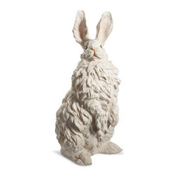Grandin Road - Standing Bunny - Crafted with premium-quality resin by skilled artists. Life-sized figures are durable and realistic. For indoor or outdoor displays. No bunny trail (or garden) is complete without our pair of Snow Bunny Statues. Use these charming white resin bunnies to bring your Easter display to life with incredible realism.. . . Choose your favorite pose, or better yet, get both!