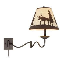 """Vaxcel Lighting - Yellowstone 12"""" Swing Arm Wall Light - Vaxcel Lighting products are highly detailed and meticulously finished by some of the best craftsmen in the business."""