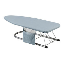 """Household Essentials - Cover And Pad For Tabletop Ironing Board - Specially cut to fit the TABLE TOP boards this 100% cotton cover and 4mm fiber pad with its one-piece solid construction and resilient matte-free surface make ironing smoother and easier. The tailored design and bungee cord binding ensures a tight fit so your cover stays secure.  Its classic blue silicone coated finish helps your cover remain stain and scorch resistant so you can iron worry-free confident that your board and clothes will last keeping you and your board looking good!  (cover only no ironing board included) Fits 30""""-32"""" x 12"""" table top boards - (replacement pad for item# 131210)"""