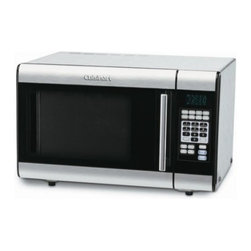 CUISINART/WARING - 1CU FT 1000W SS Microwave - Stainless steel control panel and door with dark tinted glass window and chrome handle.
