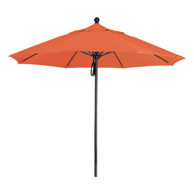 California Umbrella - 9 Foot Sunbrella Fabric Aluminum Pulley Lift Patio Market Umbrella, Bronze Pole - California Umbrella, Inc. has been producing high quality patio umbrellas and frames for over 50-years. The California Umbrella trademark is immediately recognized for its standard in engineering and innovation among all brands in the United States. As a leader in the industry, they strive to provide you with products and service that will satisfy even the most demanding consumers.