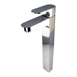 Fresca - Fresca Velino Single Hole Vessel Mount Bathroom Vanity Faucet - Chrome - This single hole / vessel faucet is made from heavy duty brass with a chrome finish. Features a Hydroplast mixing valve with water saving control.