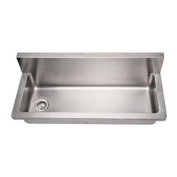 """Whitehaus Collection - Whitehaus Noah's Collection Kitchen 11 x 13 Commercial Utility Sink (WHNCMB4413) - Whitehaus WHNCMB4413 Noah's Collection Kitchen 11"""" x 13"""" Commercial Utility Sink, Brushed Stainless Steel"""