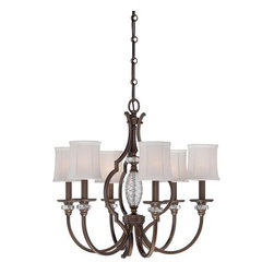 Minka Lavery - Minka Lavery 4946-570 6 Light 1 Tier Chandelier from the Thorndale Collection - Six Light Single Tier Chandelier from the Thorndale CollectionFeatures: