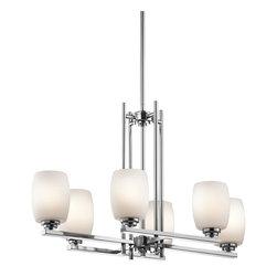 Kichler Lighting - Kichler Lighting 3898CH Eileen 6 Light Chandeliers in Chrome - Chandelier Linear 6Lt