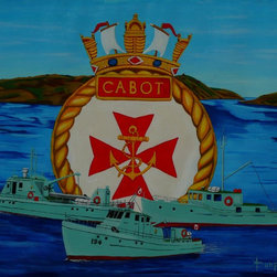 HMCS CABOT unit tenders Artwork - Unit tenders,Langara,Acadian and Standoff of HMCS CABOT in St.John's,Newfoundland,Canada.