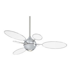 Minka Aire F596-PN/TL Cirque 54 in. Indoor Ceiling Fan - Polished Nickel