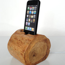 Wooden Gadget iPhone and iPod Dock by Valliswood
