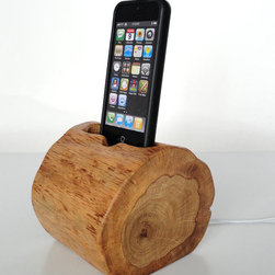 Wooden Gadget iPhone and iPod Dock by Valliswood - Get this for the man who has everything.