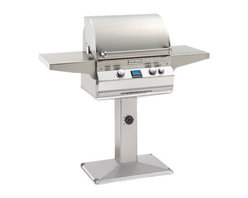 """Fire Magic - Aurora A430s1E1PP6 Patio Post Mount LP Grill - A430 Patio Post Mount Grill OnlyAurora A430s-P6 Features: Cast stainless steel """"E"""" burners - guaranteed for life"""