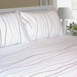 Tribeca Living - Tribeca Living Dot Extra Deep Pocket Flannel Sheet Set - The enchanting mix of colors on this dot print flannel sheet set will make it hard to resist. These sheets are crafted of six-ounce,triple-brushed cotton flannel for the softest finish and feel.