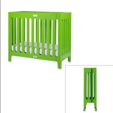 Bloom - bloom baby alma Urban Folding Cot/Mini Crib in Gala Green - alma is perfect for style, mobility and storage. This carefully designed folding wooden crib is the ideal selection for a chic and contemporary nursery.