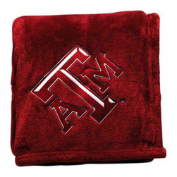 Collegiate Delight - Texas A&M University Throw - Collegiate embroidered throws are essential components of every season. These officially licensed products make perfect gifts.