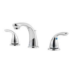 """Price Pfister - Pfister G149-6100 Pfirst Two Handle Widespread Lavatory Faucet - Price Pfister G149-6100 is a Pfirst Series 8""""-15"""" Widespread Lavatory Faucet, Metal Lever Handles, Drain assembly included."""
