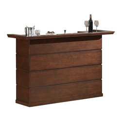 Tomasso Bar - No hip bachelor pad or man cave is complete without a home bar. Perfect for entertaining, this handsome maple veneer bar boasts ample storage for all your glassware and favorite spirits. Everyone will want to party at your house.