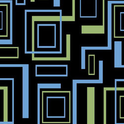 """Concord Global - Concord Global Alisa Boxes Black Geometric Contemporary 2'7"""" x 4'1""""  Rug (2293) - Alisa collection is a soft heat-set rug made to suit any child's room and decor."""